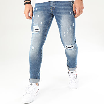 GRJ Denim - Jean Slim 14097-4 Bleu Denim