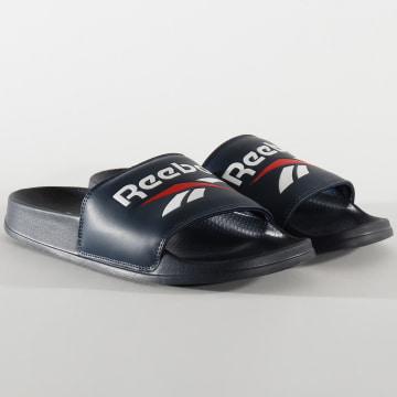 Reebok - Claquettes Classic Slide EH0416 Collegiate Navy White