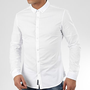Teddy Smith - Chemise Manches Longues Volt Blanc
