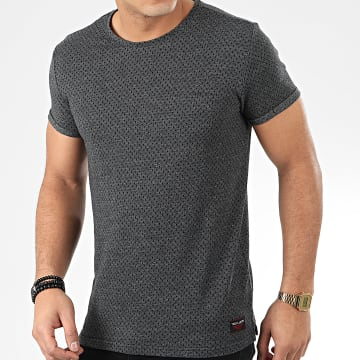 Teddy Smith - Tee Shirt Merlin Gris Anthracite Chiné