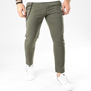 Uniplay - Pantalon Chino PU964 Vert Kaki