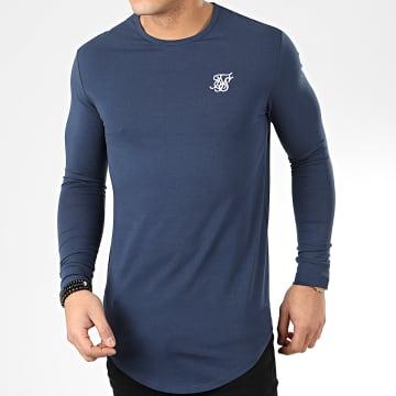 SikSilk - Tee Shirt Manches Longues Oversize Core Gym 15817 Bleu Marine
