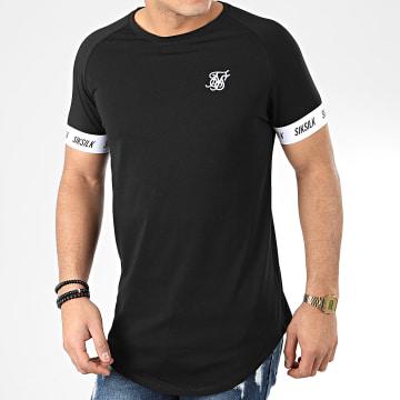 SikSilk - Tee Shirt Oversize Raglan Tech 17017 Noir
