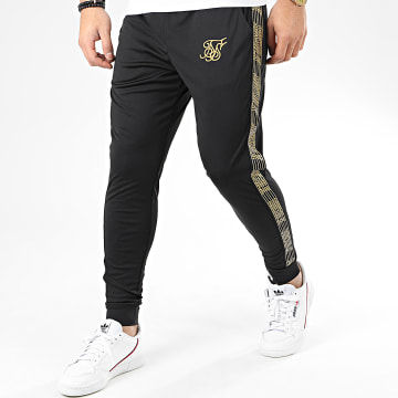 Pantalon Jogging Avec Bandes Gold Edit Cuffed Cropped 14931 Noir Doré