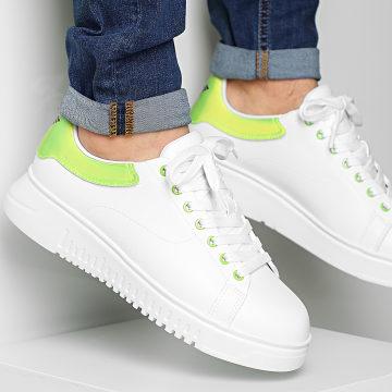 Emporio Armani - Baskets X4X264-XM228 Optic White Green Fluo