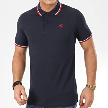 Jack And Jones - Polo Manches Courtes Noah Bleu Marine