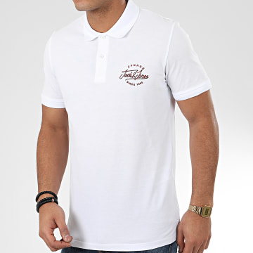 Jack And Jones - Polo Manches Courtes Pex Blanc