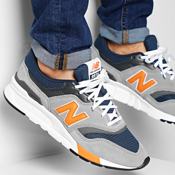 New Balance - Baskets Classics Traditionnels 997H 774461-60 Gris Bleu Marine Orange