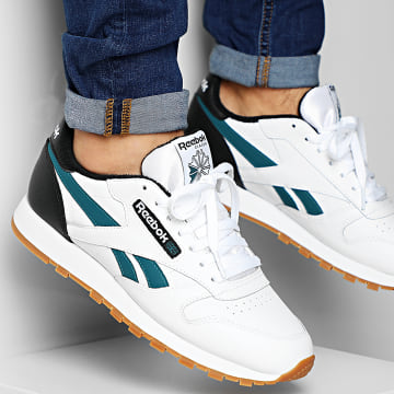 Baskets Classic Leather MU EF7832 White Black Heritage Teal