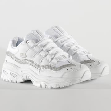 Baskets Femme Energy Metal Wave 13415 White Silver