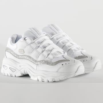 Skechers - Baskets Femme Energy Metal Wave 13415 White Silver