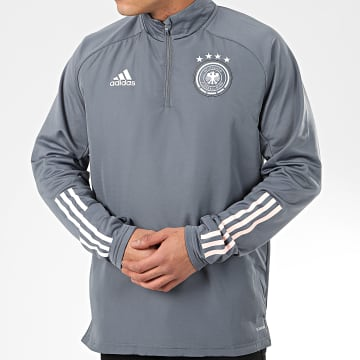 Sweat Col Zippé DFB Warm FI0767 Gris