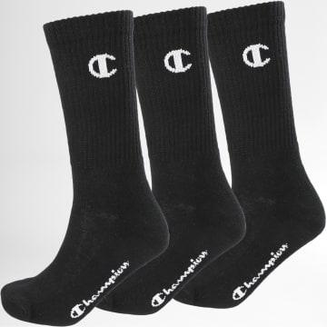 Champion - Lot De 3 Paires De Chaussettes Y08QG Noir