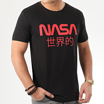 NASA - Tee Shirt Japan Logo Noir Rouge