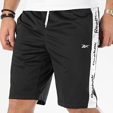 Short Jogging A Bandes Linear Logo FK6108 Noir Blanc