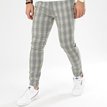 Pantalon A Carreaux M4003VPA Gris