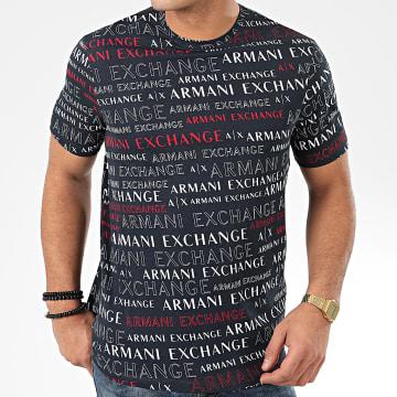 Tee Shirt 3HZTFC-ZJH4Z Bleu Marine Blanc Rouge