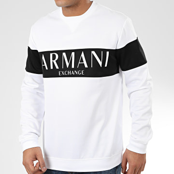 Armani Exchange - Sweat Crewneck 3HZMAE-ZJ3FZ Blanc Noir