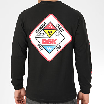 DGK - Tee Shirt Manches Longues Hazardous Noir