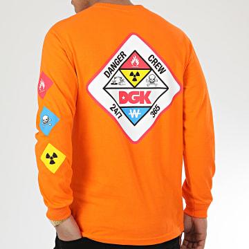 DGK - Tee Shirt Manches Longues Hazardous Orange