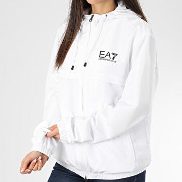 EA7 - Veste Zippée Capuche 3HPB13-PN28Z Blanc