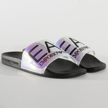 Claquettes Slipper Visibility XCP001-XCC22 Noir Iridescent