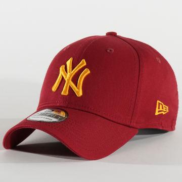 Casquette Baseball 39Thirty League Essential New York Yankees 80635932 Bordeaux Jaune