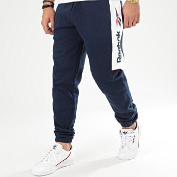 Pantalon Jogging Classic F Linear FJ3292 Bleu Marine Blanc