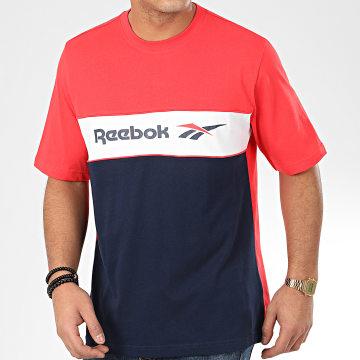 Reebok - Tee Shirt Tricolore Classic F Linear FJ3346 Rouge Bleu Marine
