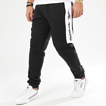 Reebok - Pantalon Jogging Classic F Linear FK2720 Noir Blanc