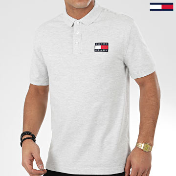 Polo Manches Courtes Tommy Badge 7456 Gris Chiné
