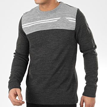 Pull Patch Gris Anthracite Chiné