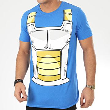 Dragon Ball Z - Tee Shirt Vegeta Costume Bleu Azur