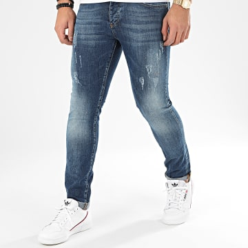 John H - Jean Slim 8913 Bleu Denim