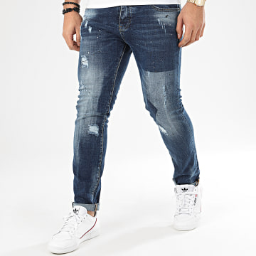 John H - Jean Slim 8925 Bleu Denim