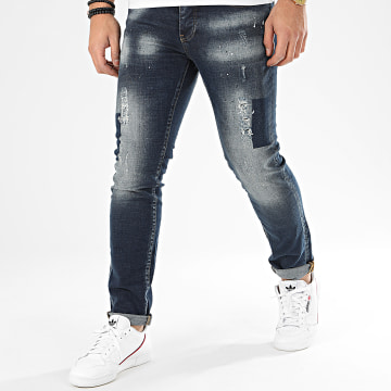 John H - Jean Slim 8923 Bleu Denim