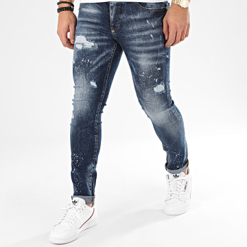 John H - Jean Slim 8915 Bleu Denim