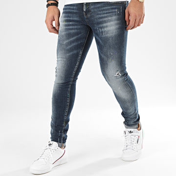 John H - Jean Slim 20-2003 Bleu Denim