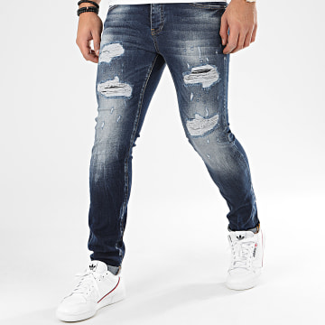 John H - Jean Slim 8916 Bleu Denim