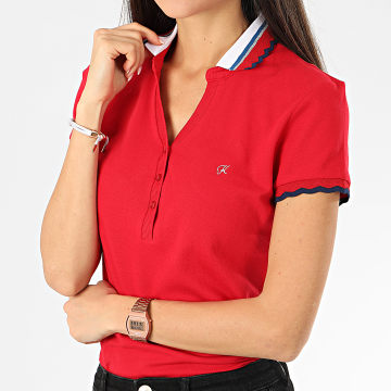 Polo Manches Courtes Femme Roxo Rouge