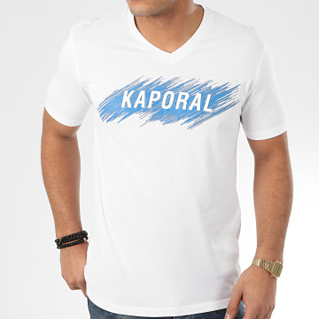 Kaporal - Tee Shirt Col V Mass Blanc
