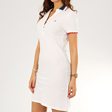 Robe Polo Manches Courtes Femme Roukye Blanc