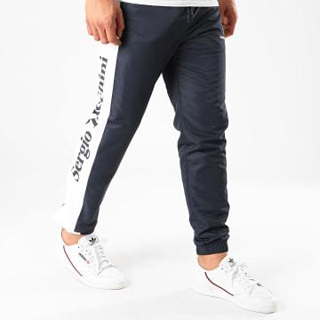 Sergio Tacchini - Pantalon Jogging A Bandes Frassino 38723 Bleu Marine Blanc