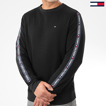 Sweat Crewneck A Bandes 0705 Noir