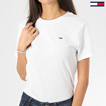 Tommy Jeans - Tee Shirt Femme Tommy Classics 7036 Blanc