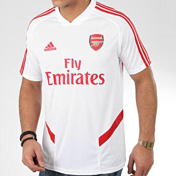 Maillot De Foot A Bandes Arsenal FC EJ6278 Blanc