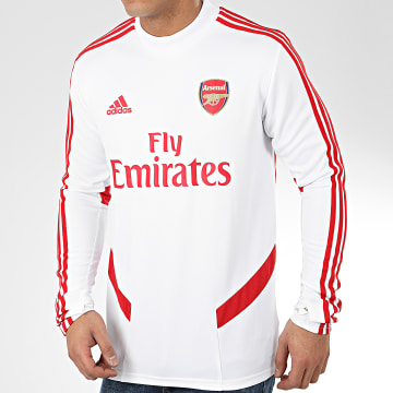Adidas Performance - Tee Shirt Manches Longues A Bandes Arsenal FC EJ6283 Blanc