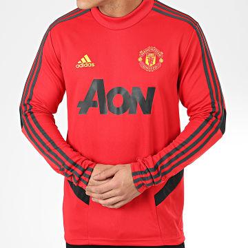 Maillot De Foot Manches Longues A Bandes Manchester United FC DX9038 Rouge