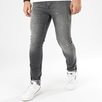 GRJ Denim - Jean Slim 14118 Gris Anthracite