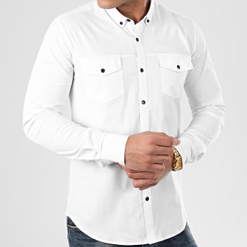 Chemise Manches Longues Slim Fit 976 Blanc